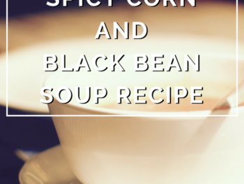 Spicy Corn and Black Bean Soup Recipe by Annie B Kay - anniebkay.com