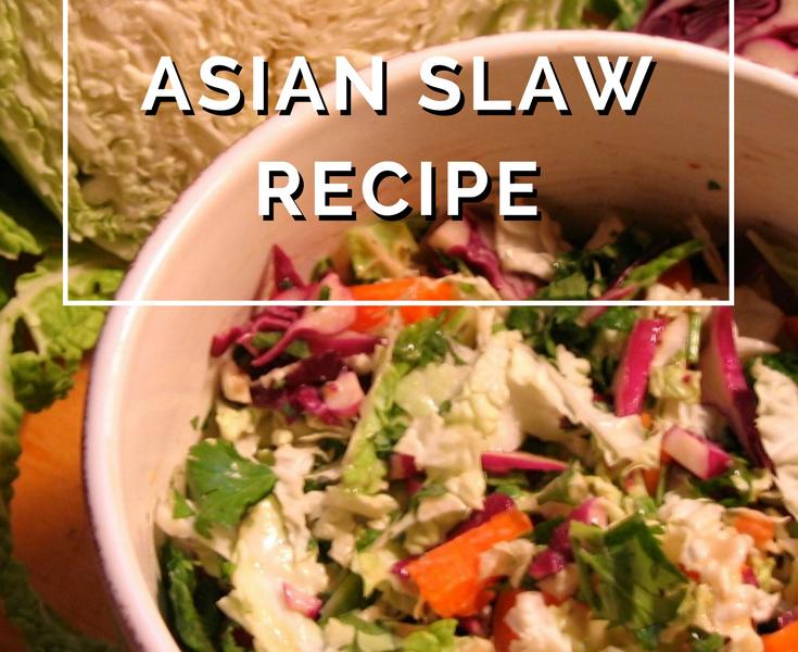 Asian Slaw Recipe by Annie B Kay - anniebkay.com