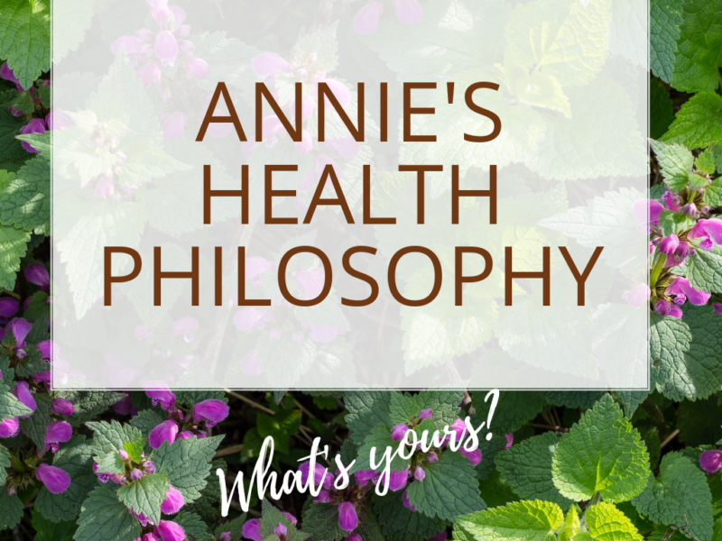 Annie Kay health philosphy