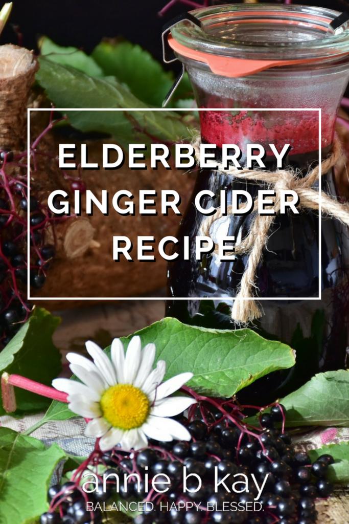 Elderberry Ginger Cider Recipe by Annie B Kay - anniebkay.com