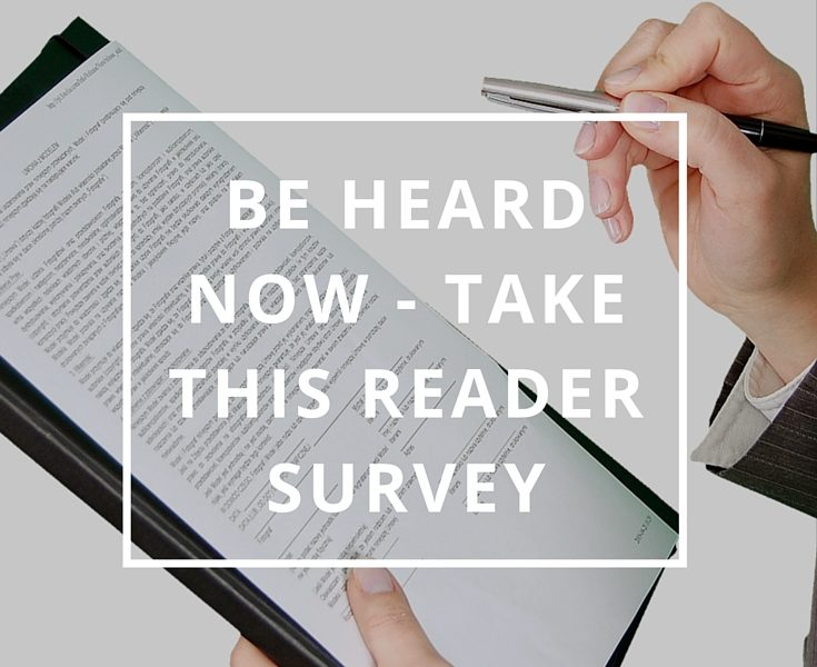 Be Heard Now - Take This Reader Survey by Annie B Kay Pinterest