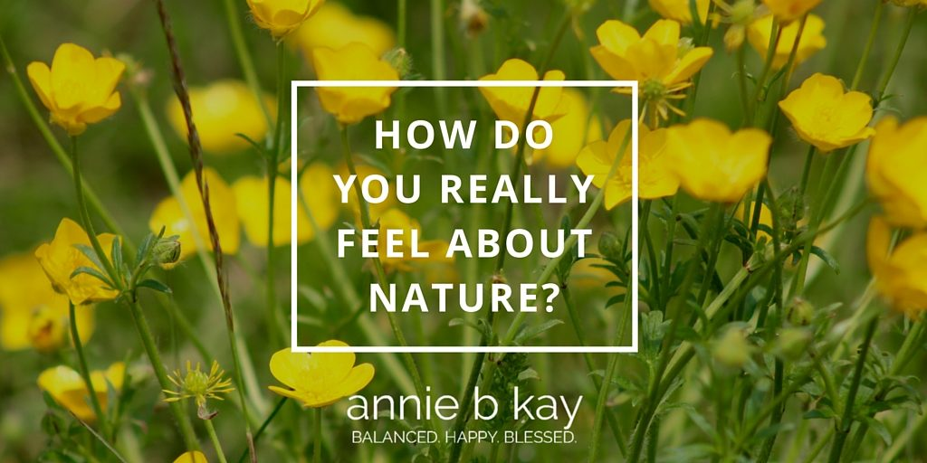 How Do You Really Feel About Nature? by Annie B Kay