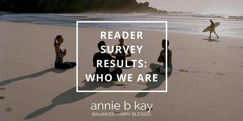 Reader Survey Results: Who We Are by Annie B Kay