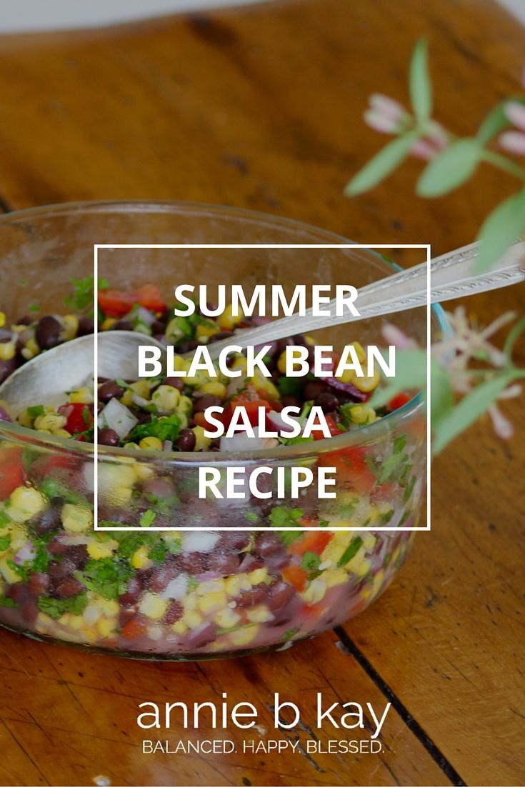 Summer Black Bean Salsa Recipe