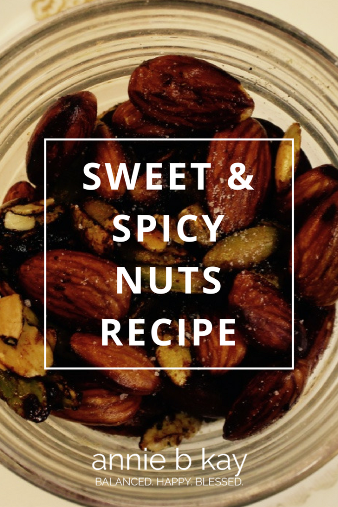 Sweet & Spicy Nuts Recipe by Annie B Kay - anniebkay.com