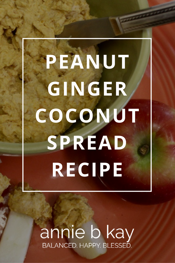 Peanut Ginger Coconut Spread Recipe by Annie B Kay - anniebkay.com
