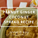 Peanut Ginger Coconut Spread Recipe by Annie B Kay - anniebkay.com
