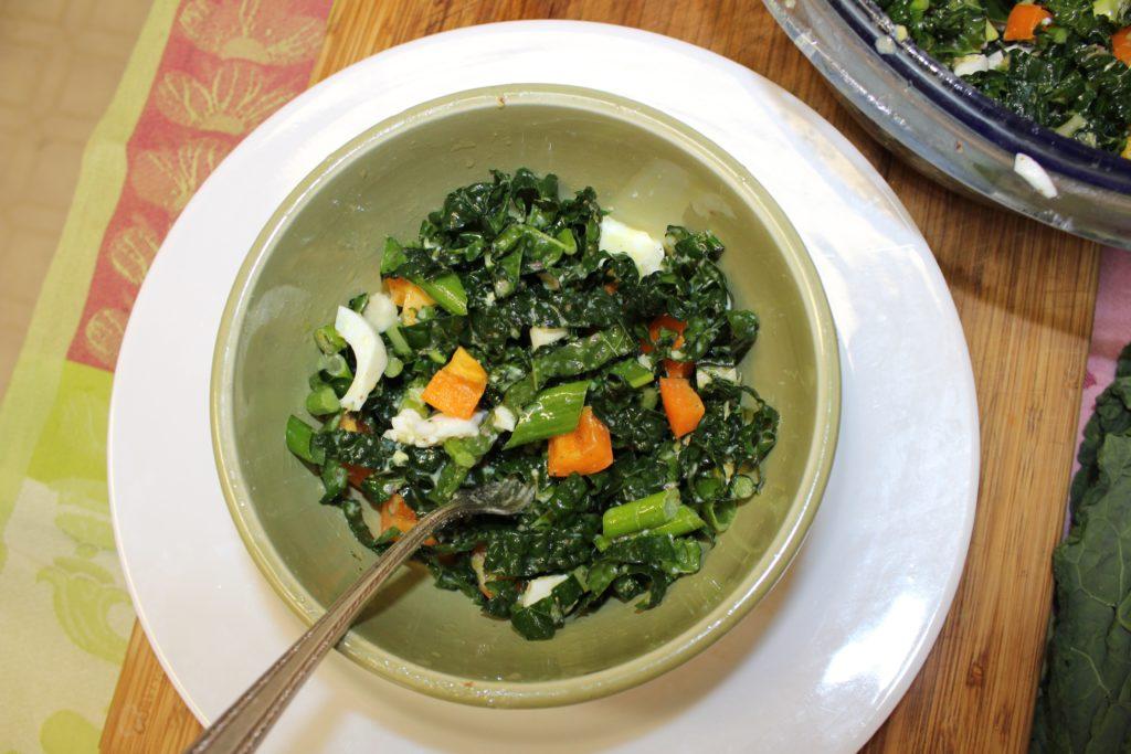 Lemony Kale Salad Recipe - anniebkay.com