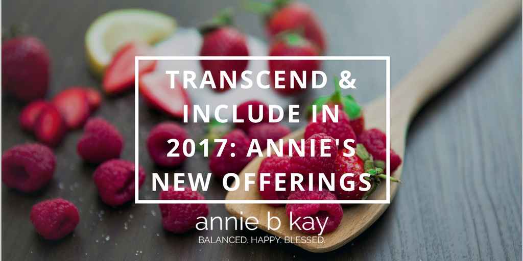 Transcend & Include in 2017_ Annie's New Offerings by Annie B Kay - anniebkay.com