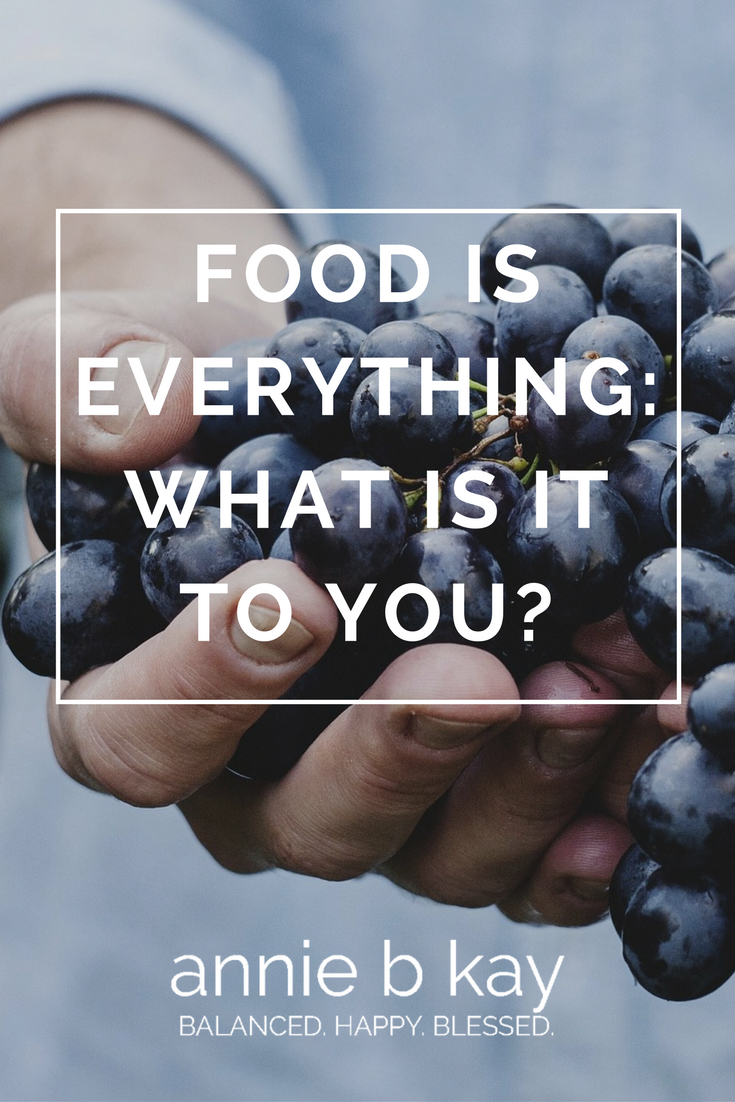 Food Is Everything: What Is It to You?