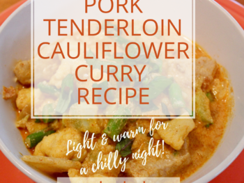 Pork tenderloin curry recipe