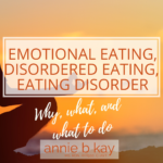 emotional eating to eating disorder