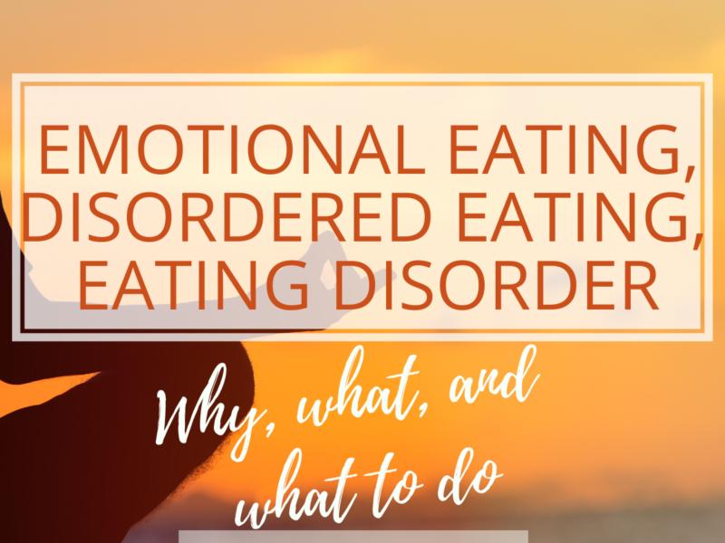 emotional eating to eating disorder